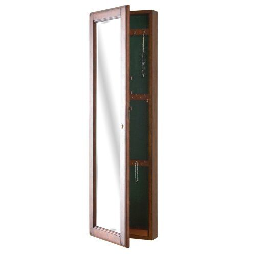 SEI WallMount Jewelry Armoire with Mirror Walnut for more details