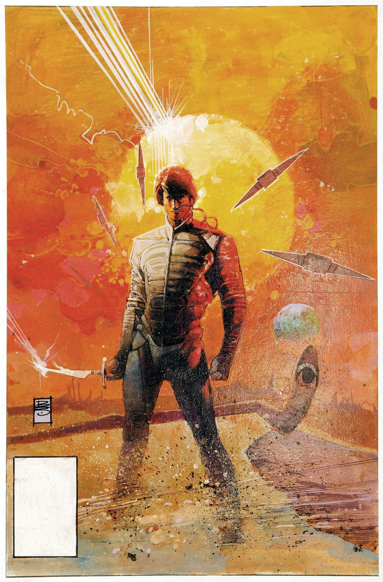 Original cover painting by Bill Sienkiewicz from Dune the