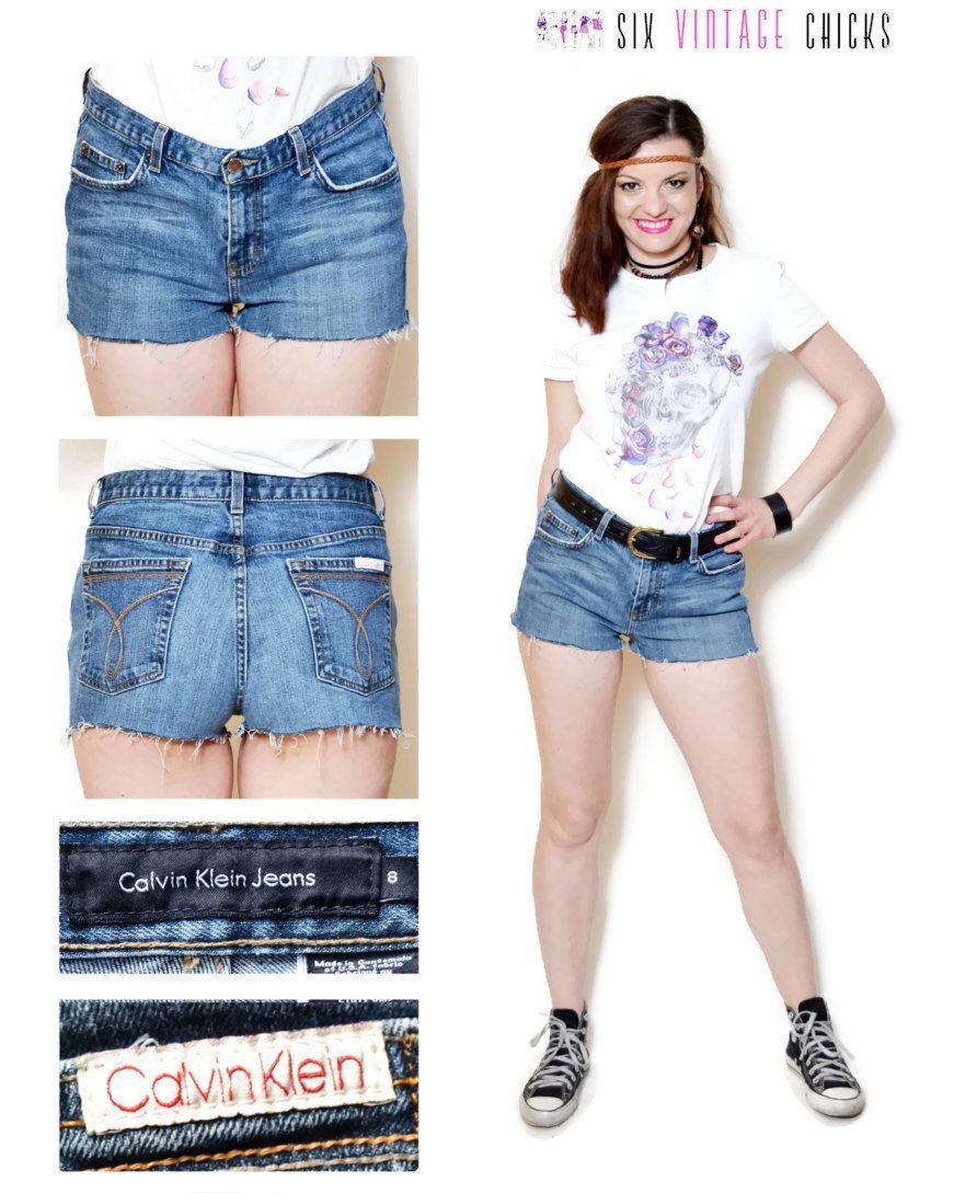 0fa524b5e921 jean shorts women boho chic daisy duke shorts denim shorts rocker vintage  90s Clothing bohemian worn out Size S Small by SixVintageChicks on Etsy