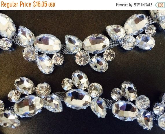 ON SALE Rhinestone Trim - Rhinestone Chain - Rhinestone Trimming - 34mm - By the Foot by SupplyWorld on Etsy https://www.etsy.com/listing/258098250/on-sale-rhinestone-trim-rhinestone-chain