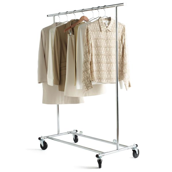 Chrome Metal Folding Commercial Clothes Rack Garment Racks Clothing Rack Standing Clothes Rack