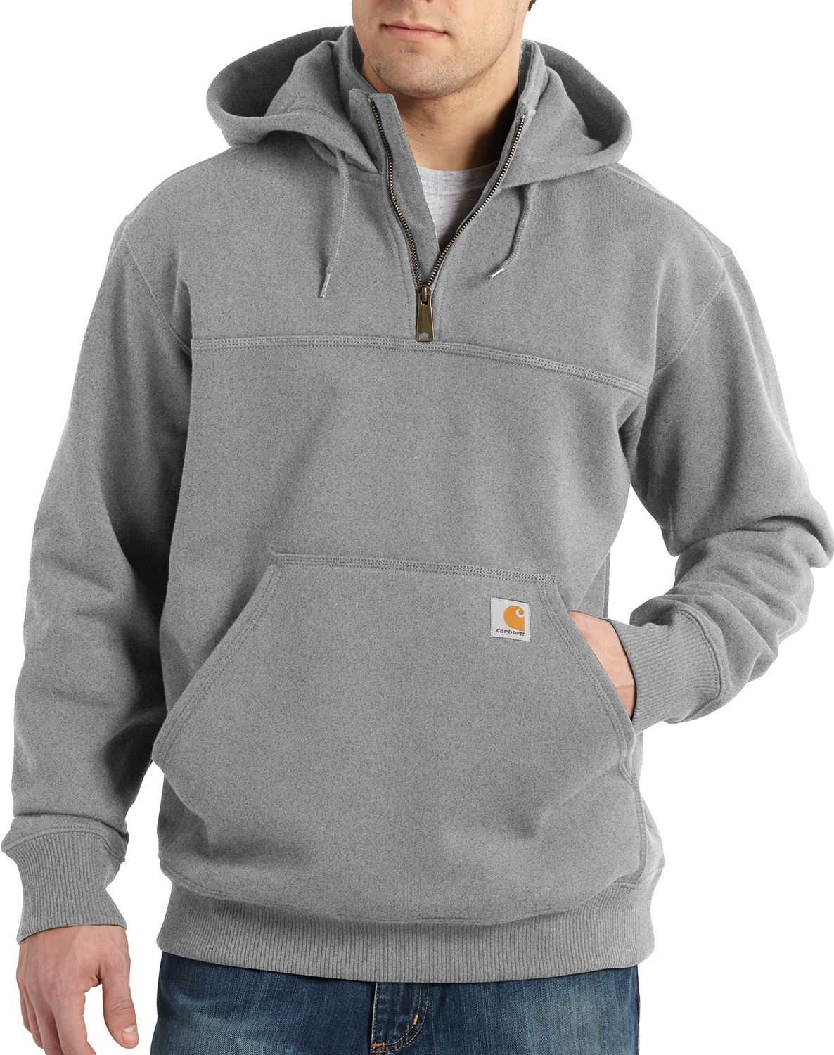 d53e372d27a Carhartt Men s Paxton Heavyweight Mock Zip Hoodie in 2019