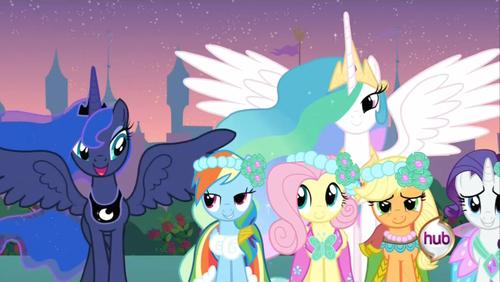 Princess Luna My Little Pony At Royal Wedding Friendship