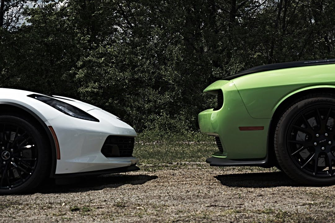 2015 C7 Z06 Auto Vs 2015 Challenger Hellcat Auto Vs 2015 Charger