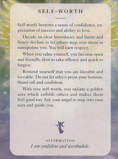 "** ""Self-Worth"" Angel Card @DianaCooper"