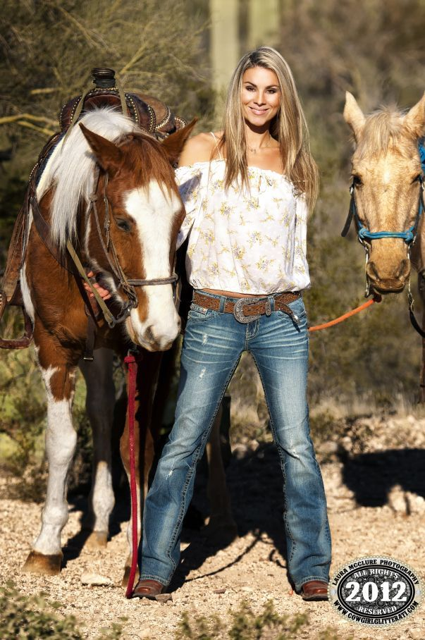Cowgirl Smile And Style Sporting Two Horses Paint And Palomino Colored Please Also Visit Www Justforyoupropheticart Com For Colorful Inspirational