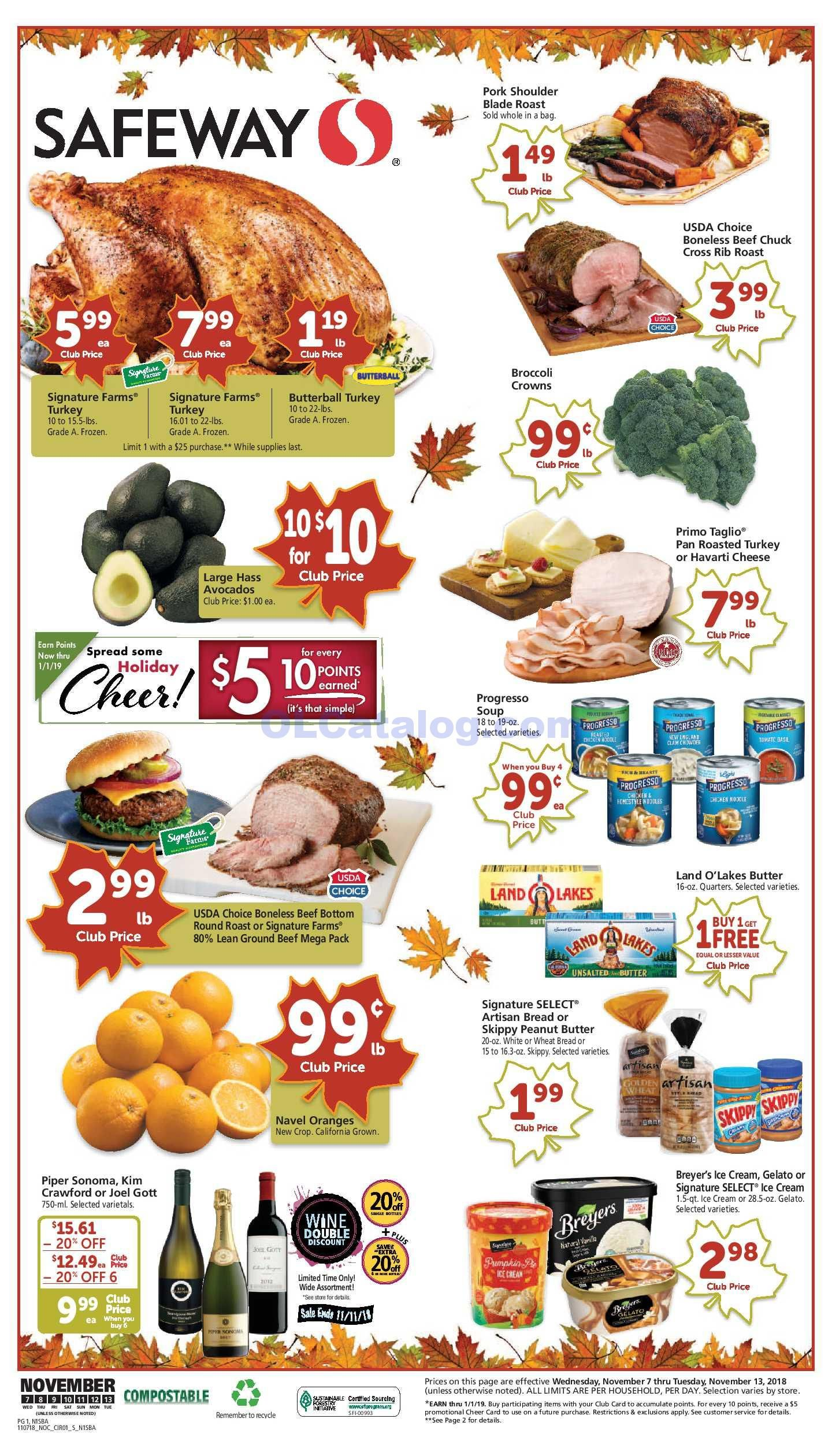Safeway Weekly Ad November 7 13 2018 Find Latest Safeway Weekly Ad Circular For Safeway Near Me You Will Find The Digital Coupons Grocery Savings Safeway