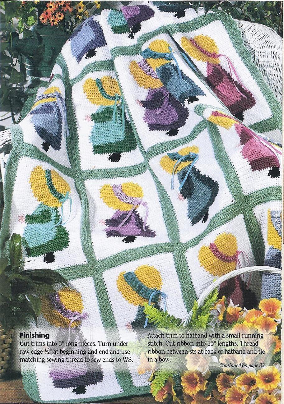 Sunbonnet Sue Afghan Crochet Pattern | Pinterest | Deckchen, Decken ...