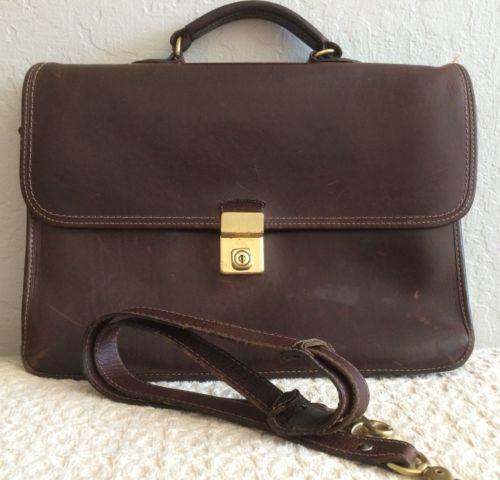 9d3b5d64e7ba Classic-Henry-Louis-Brown-Leather-Briefcase-Shoulder-Attache-Bag-w-Lock