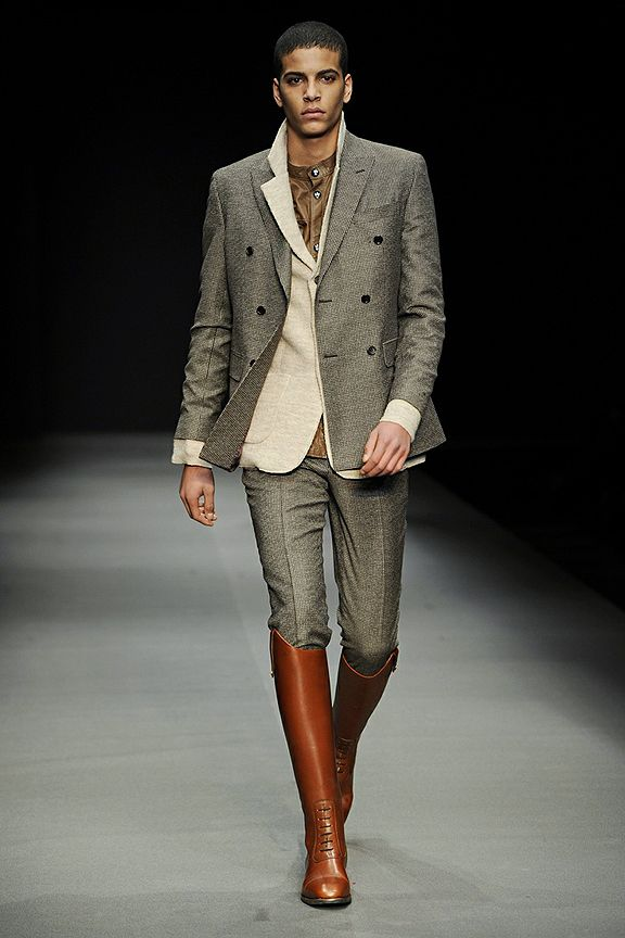 knee high boots on men | Mens fashion