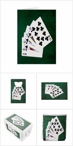 Good Luck gifts - Royal Flush poker hand #poker #pokerhand #royalflush #suit #clubs #goodluck #pokergift #gift #casino #gambling #decor #decoration
