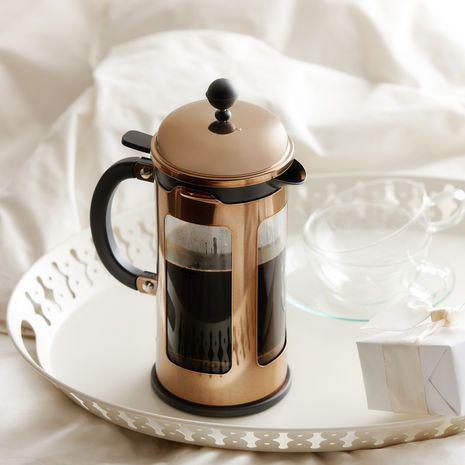 Rose Gold coffee press  Shut up! Chambord Locking Lid Press