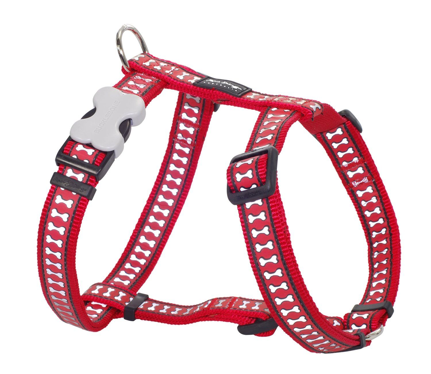 Red Dingo Reflective Safety Dog Harness, Large *** Read