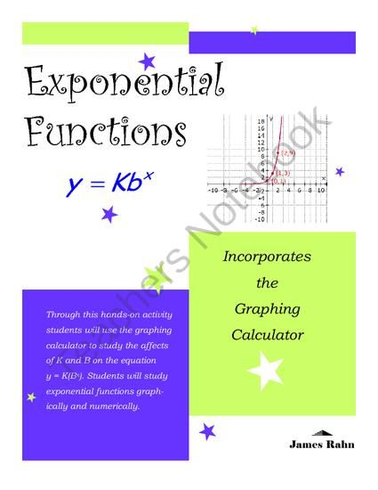 Explore Exponential Functions - This activity is designed for