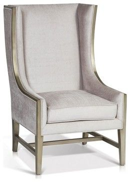 High Back Wing Arm Chair Contemporary Armchairs And Accent Chairs