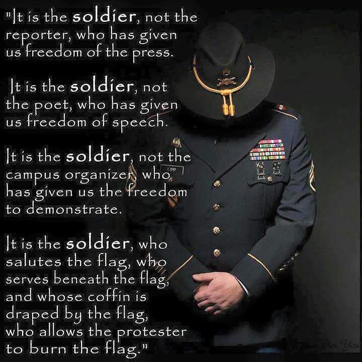"""""""We are forever indebted to those who have given their lives that we might be free."""" -Ronald Reagan . . . . ."""