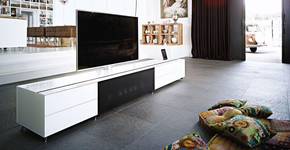 Modernes Fernsehmobel Integrierter Iphone Ipod Docking Station