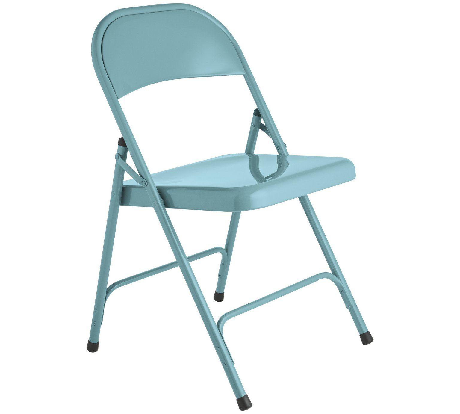 Buy Habitat Macadam Metal Folding Chair Blue Dining
