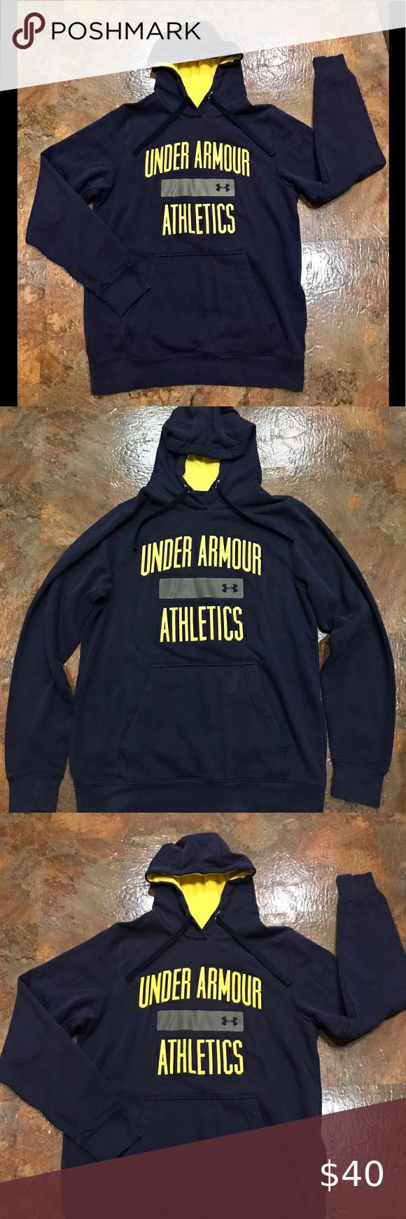 Under Armour Navy Loose Fit Very Sweatshirt In 2021 Cute Sweatshirts Mesh Hoodie Underarmor Hoodie [ 1740 x 580 Pixel ]