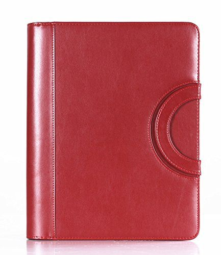 Leather Resume Portfolio Fashion Padfolio File Holders Women's Fashion Pu Leather Padfolio .