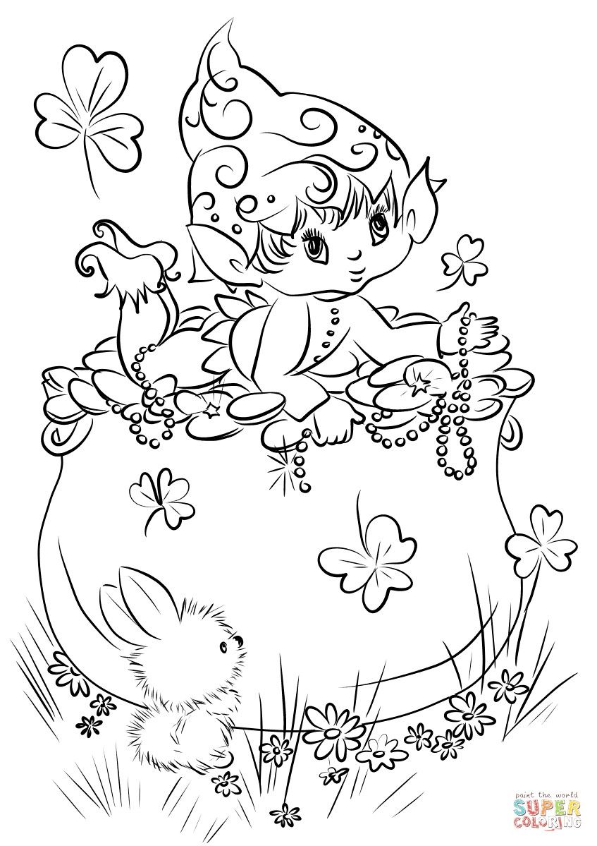 21 Awesome Picture Of Leprechaun Coloring Pages Cute Coloring