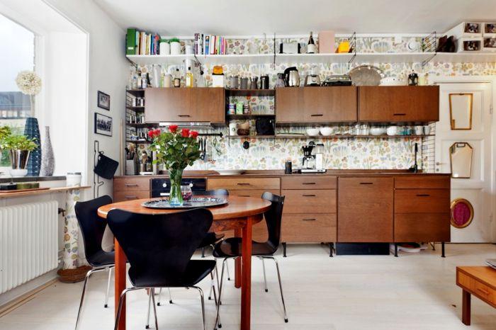 ▷ 1001+ ideas para organizar las cocinas pequeñas | Tapiz de papel ...
