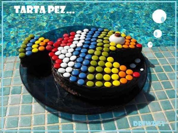 first birthday cake idea looks easy Dessert Recipes Pinterest
