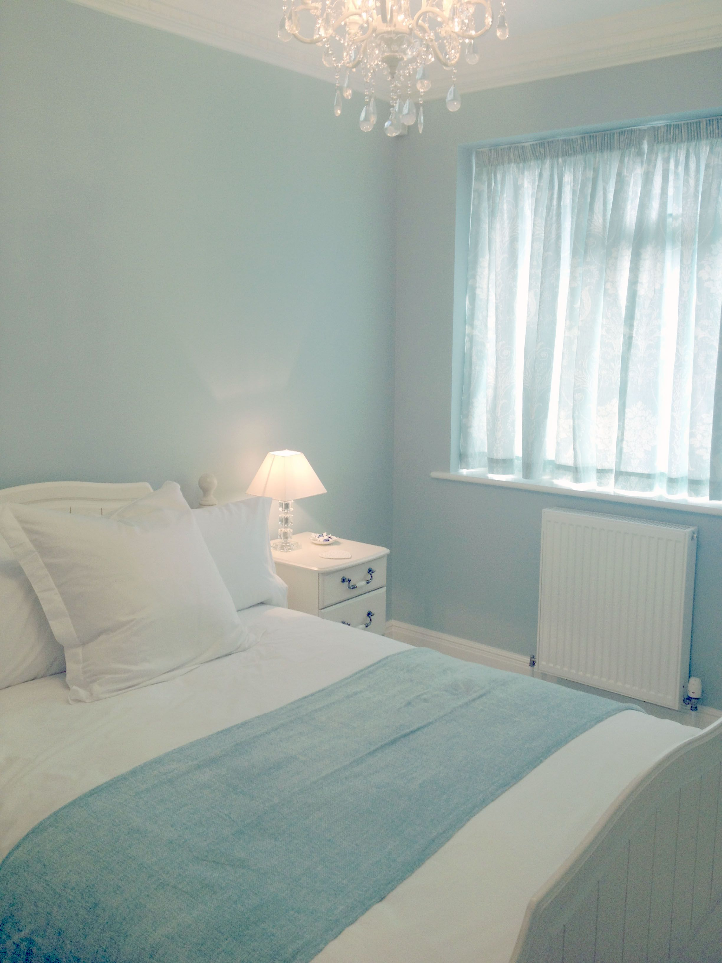 Guest Room finally finished ..Laura Ashley Duck Egg Blue  Duck
