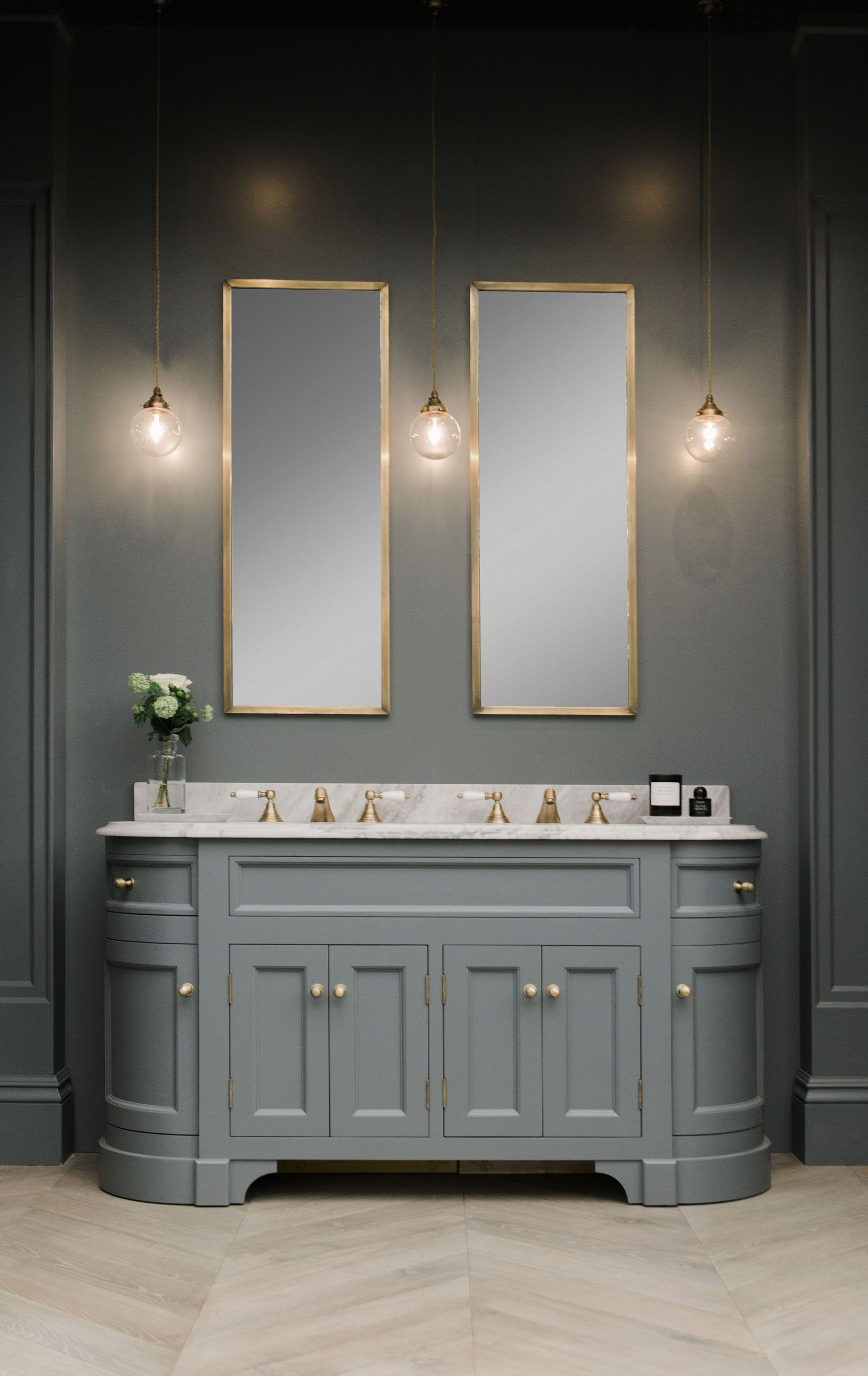Double stratford vanity unit painted in btwn dog and wolf paint and paper library marble vanity - Marble vanity units ...