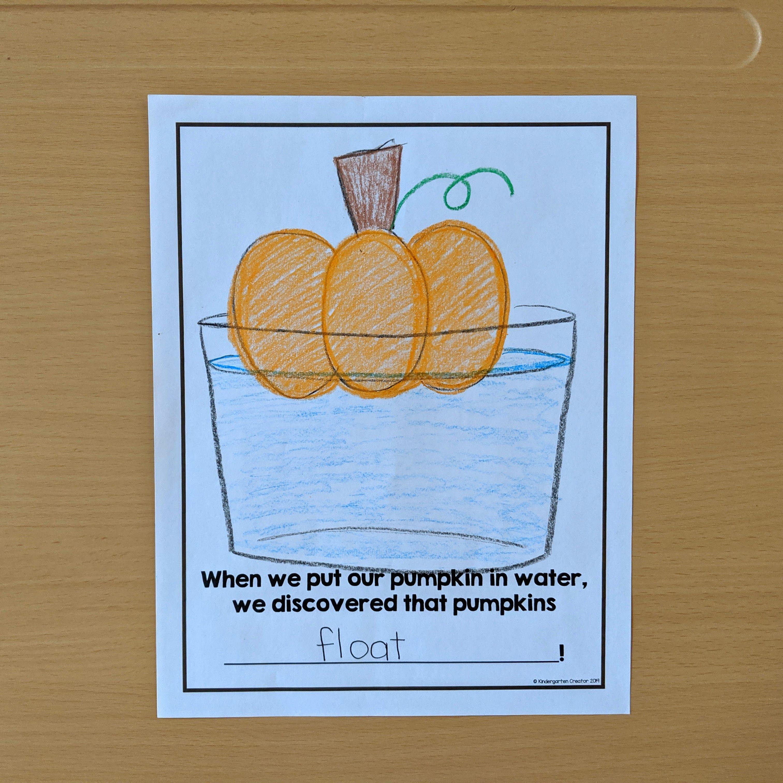 Pumpkin Sink Or Float Activity