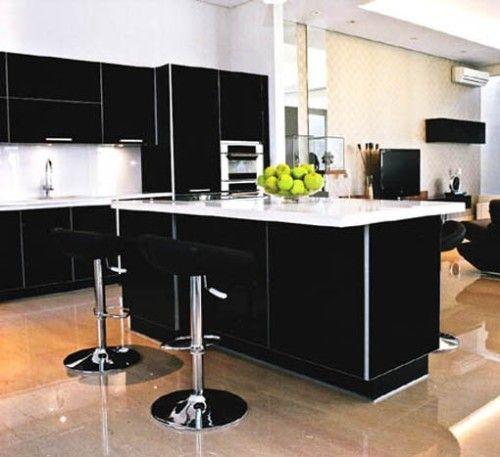 Hermosas cocinas en color blanco y negro cocinas for Cocinas en blanco y negro