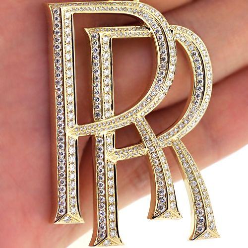 Custom made mens 10k yellow gold 290 ct diamond luxury rolls custom made mens 10k yellow gold 290 ct diamond luxury rolls royce car logo pendant aloadofball Choice Image