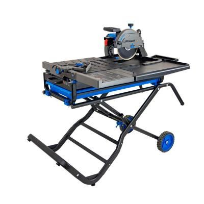 Delta Cruzer 10 Inch Wet Tile Saw With Folding Portable Stand In