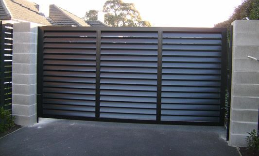 Another Example Of Our Louvred Slat Slide Gate