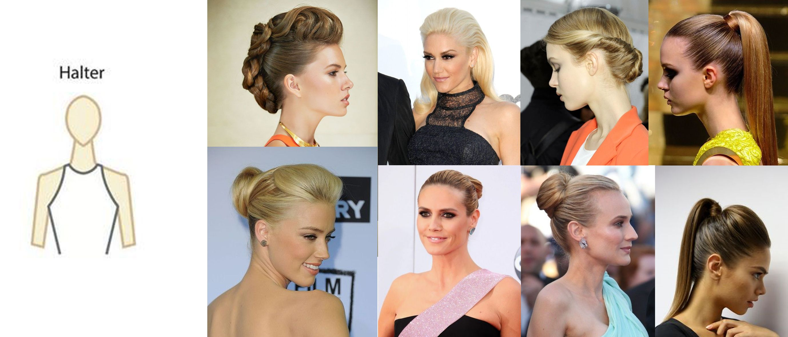 Prom Hairstyles for Halter Dresses