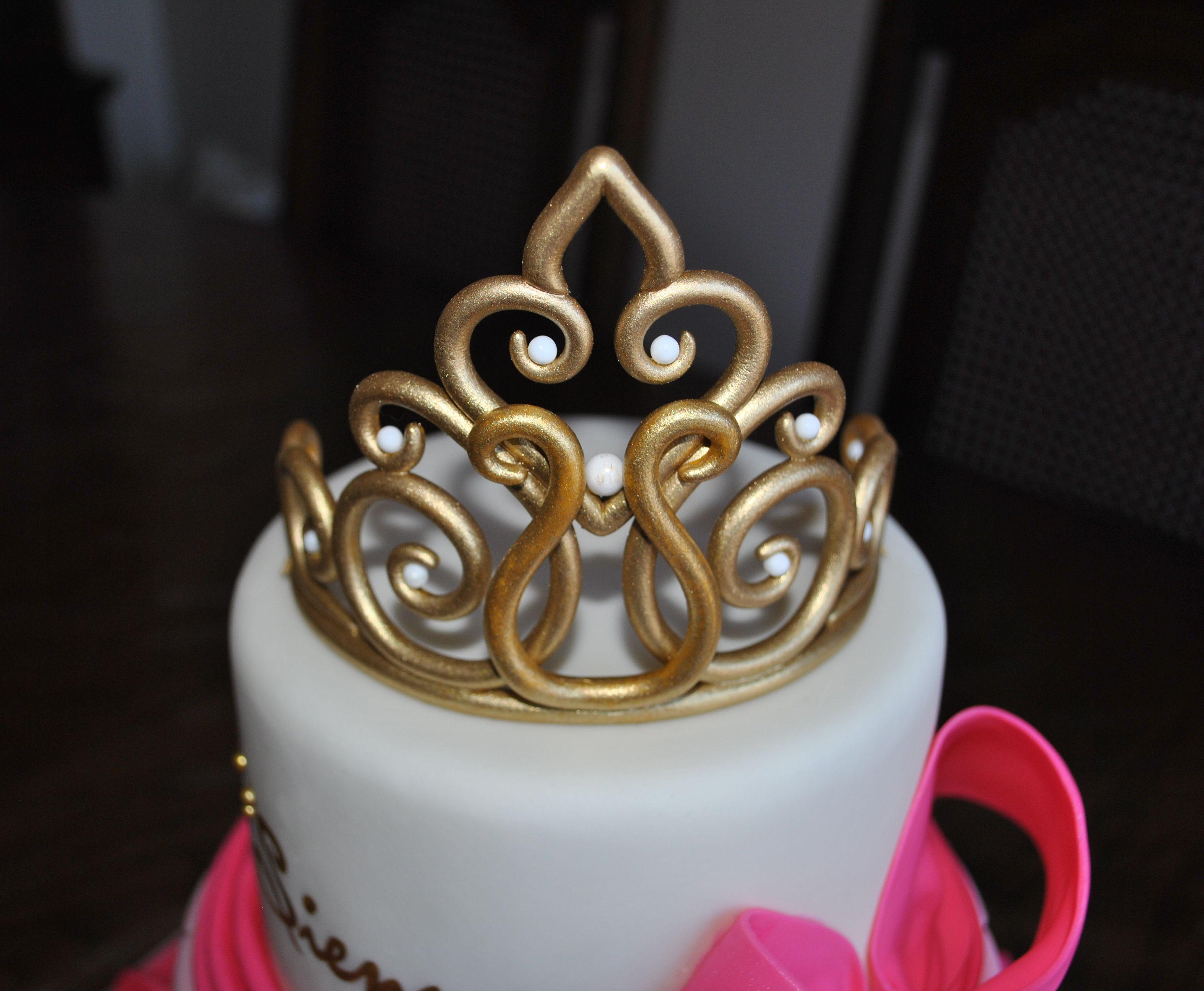 Gold Gumpaste Tiara