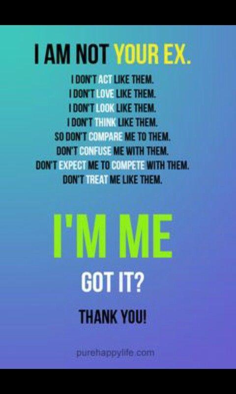 Im Not Your Ex Ex Quotes Words Quotes