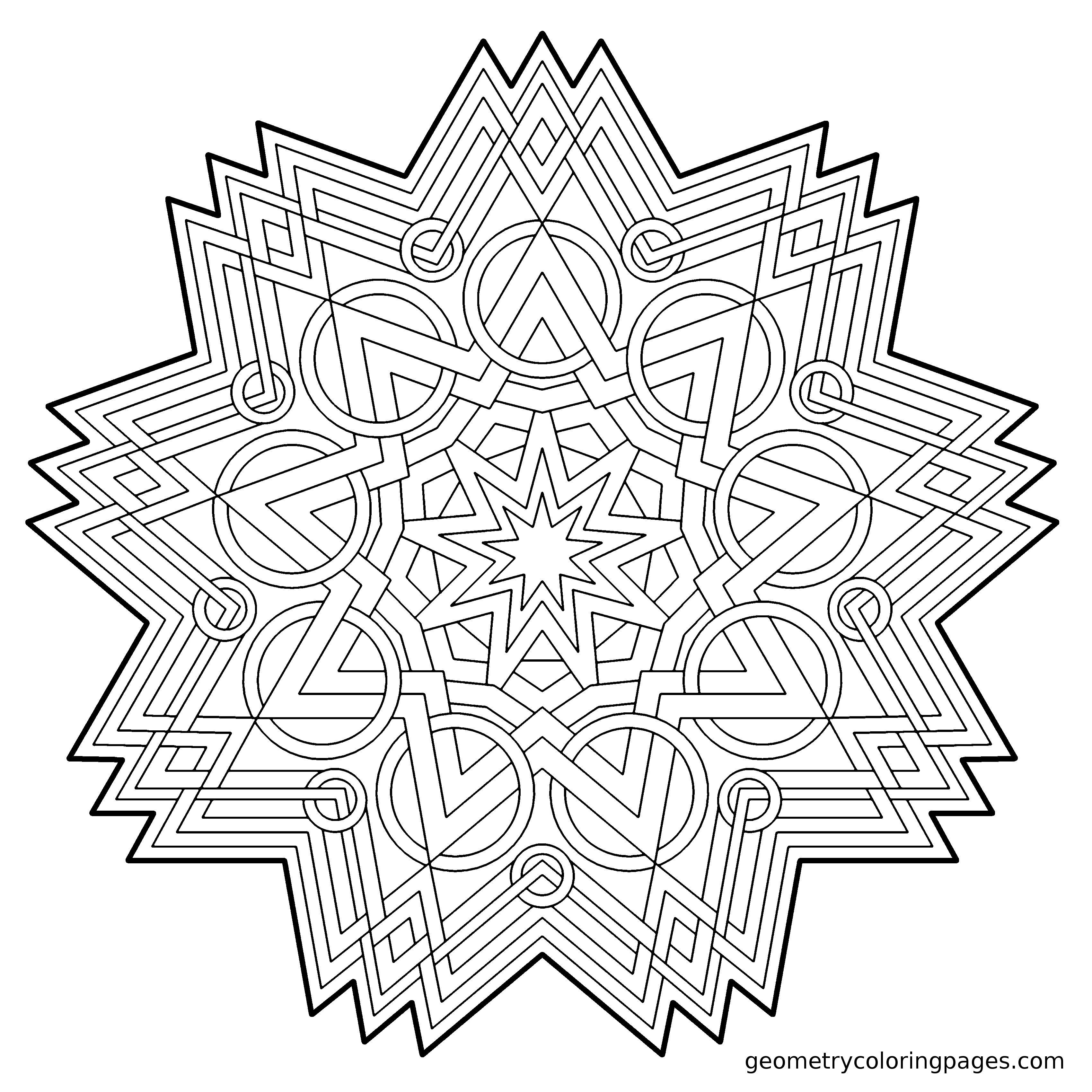 Famoso Arte Geométrico Para Colorear Festooning - Enmarcado Para ...