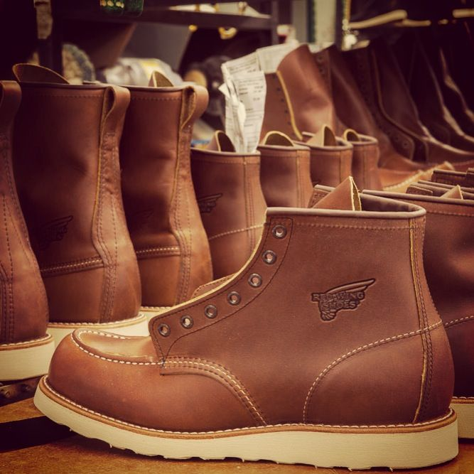 Boots finished at the plant in Red Wing, Minnesota. | Red Wing ...
