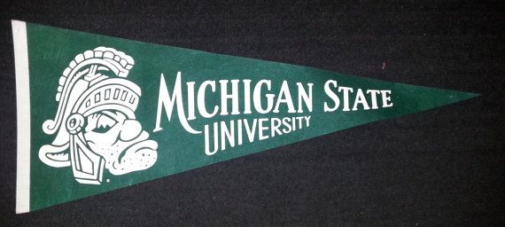 RARE Vintage 1950s-1960s Felt Michigan State by UnexpectingItems