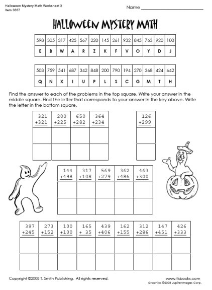 Fun Halloween Worksheets For 5th Graders Google Search Halloween Math Worksheets Halloween Math 4th Grade Math Worksheets