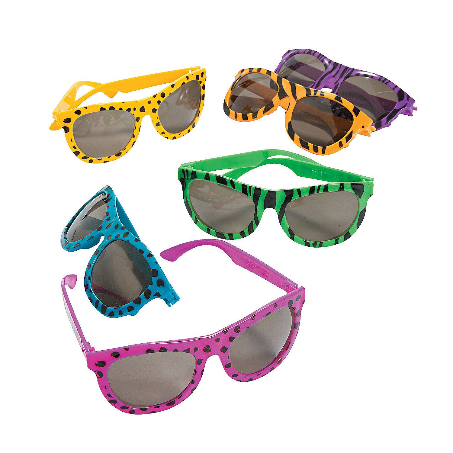 0e385c574d5 Bright Animal Print Sunglasses - OrientalTrading.com - Cute party favors  for a Wild Animal party.
