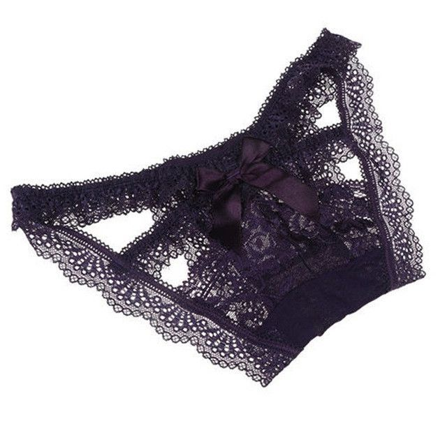 fb73518294 1PC Hot Sexy Fashion Women Panties Knickers Bikini Lingerie Underwear  Hollow Flower Bikini Comfortable Lace Thongs G-String