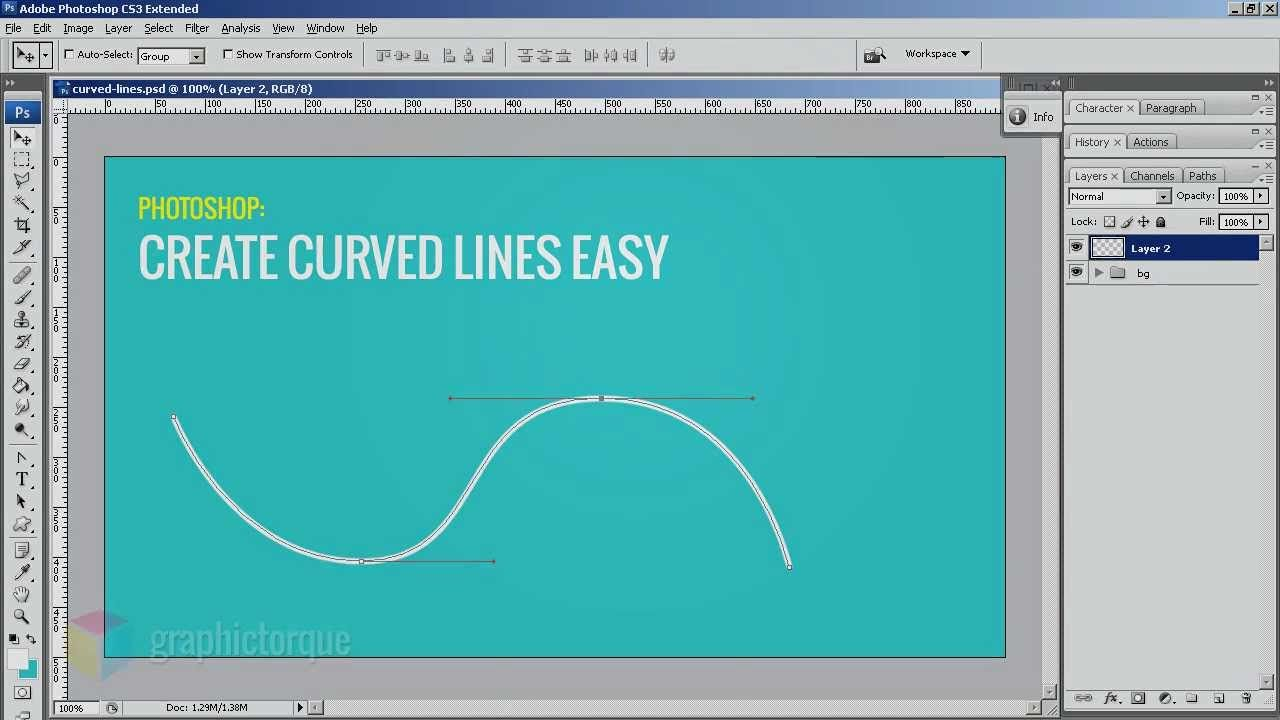 Easy oneminute refresher on how to curve lines in