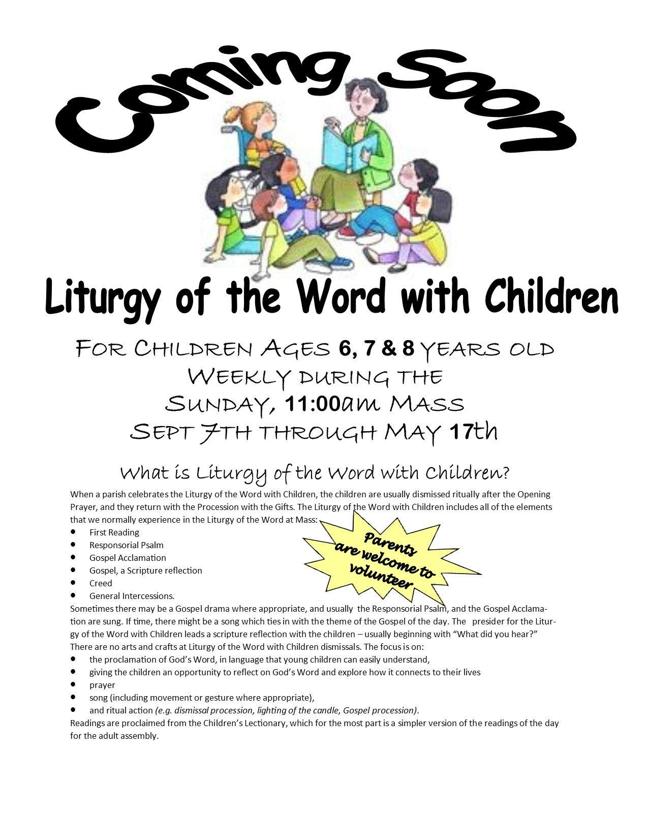 Flyer For Children S Liturgy