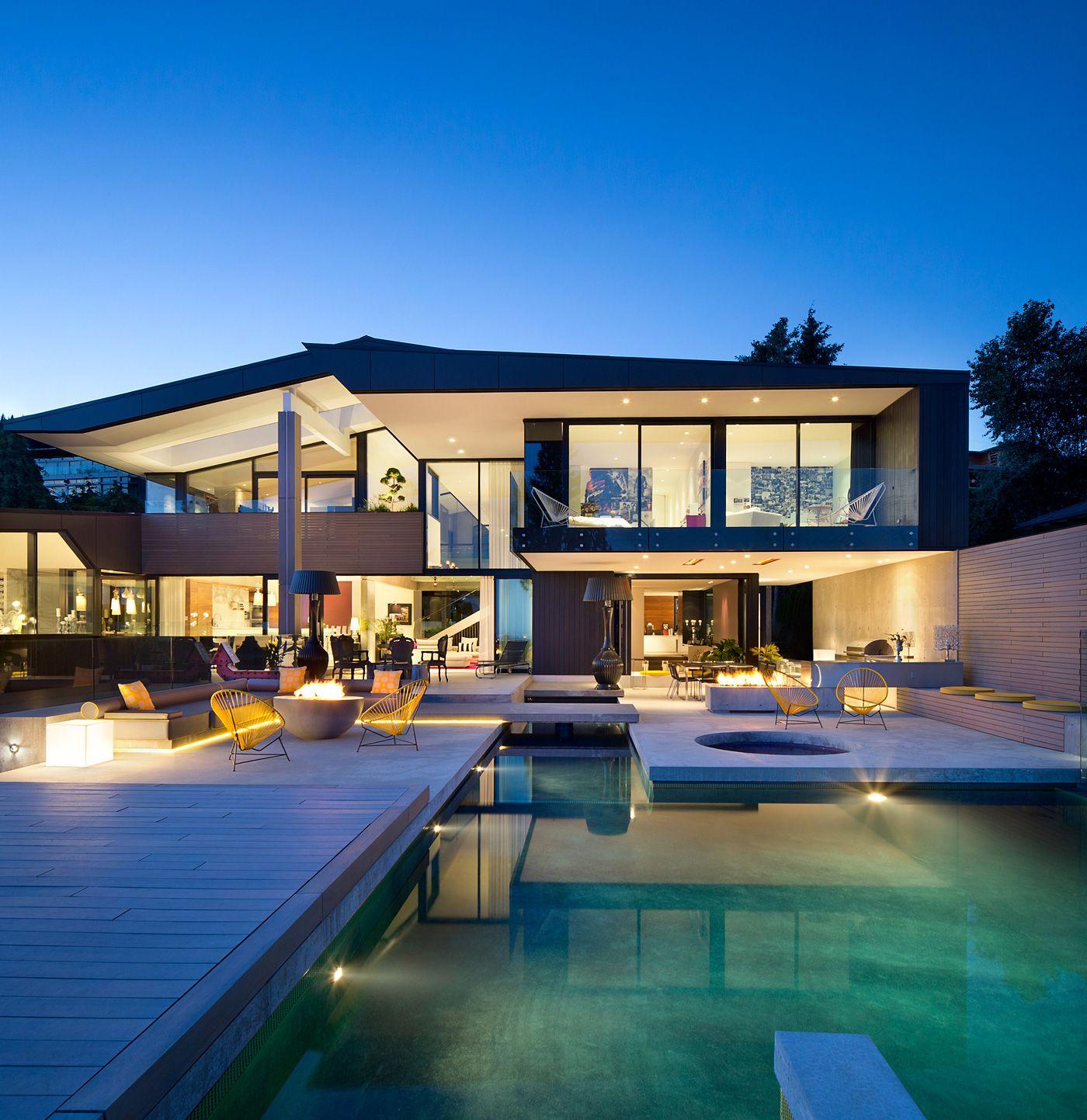 Moderne villen mit pool  Moderne Villa in Vancouver | Architektur