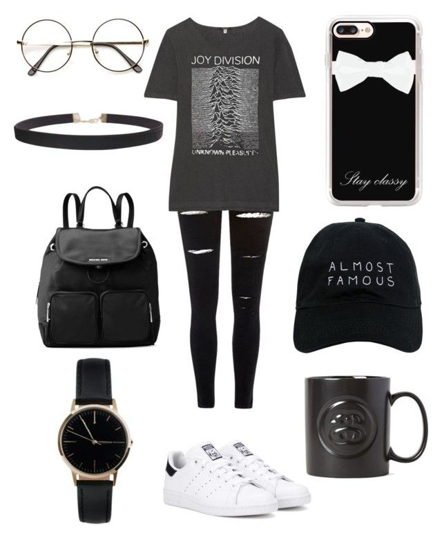 """Untitled #81"" by kimtahyung on Polyvore featuring River Island, R13, adidas Originals, Humble Chic, MICHAEL Michael Kors, Casetify, Freedom To Exist, Nasaseasons and Stussy"
