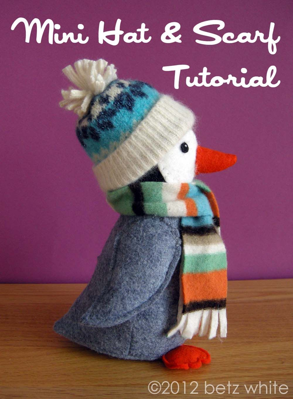 accessories!  betz white: Mini Hat and Scarf Tutorial