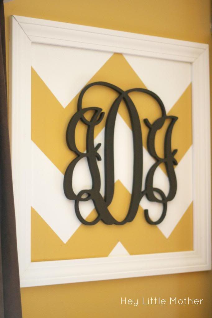 Chevron Monogram Wall Art-make for kitchen wall or just decorate ...