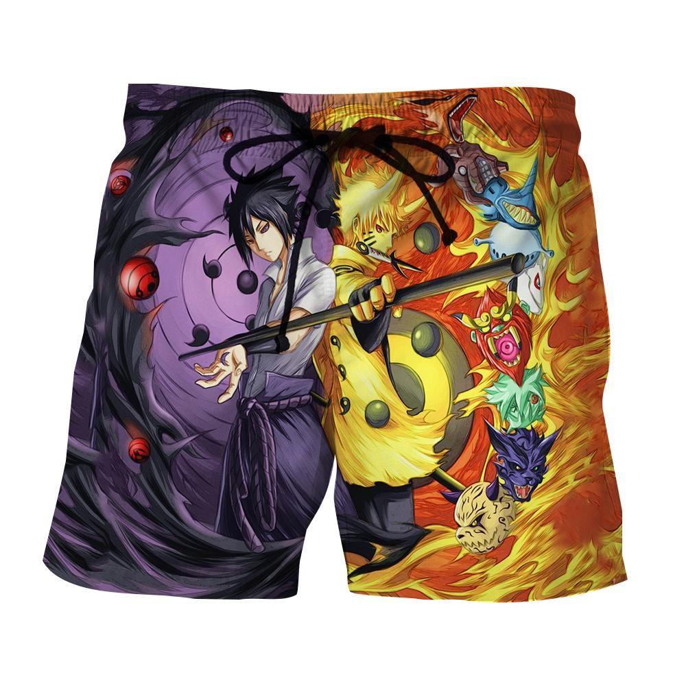a34b384061 Naruto Sasuke Power Jinchuuriki Sharingan Patterned Shorts #Naruto #Sasuke  #Power #Jinchuuriki #Sharingan #Patterned #Shorts